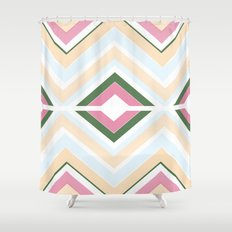 Mod stripes in Sorbet Shower Curtain