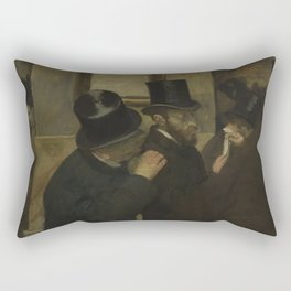 Portraits at the Stock Exchange Rectangular Pillow