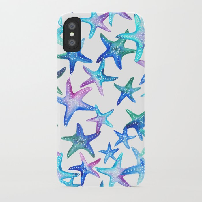 Watercolor Starfish iPhone Case