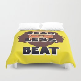 Read Less Beat - Allen Ginsberg Duvet Cover