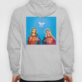 Jesus Christ and the Virgin Mary Hoody
