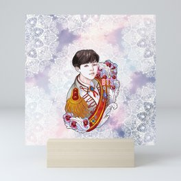 BST Suga Kings of KPOP, Love Yourself, Boy With Luv Mini Art Print