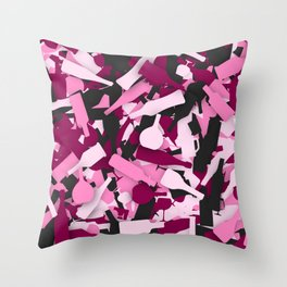 Pink alcohol camouflage Throw Pillow