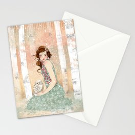 Mademoiselle Snow Stationery Cards