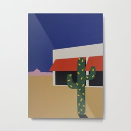 Boutique With Cactus Metal Print