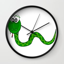 100 Days of School Survived 100 Days of Me Snake Wall Clock