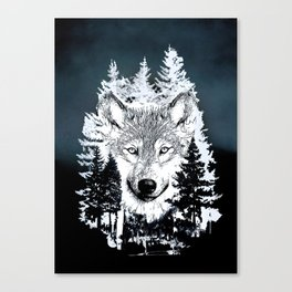 Forest Wolf Art Canvas Print