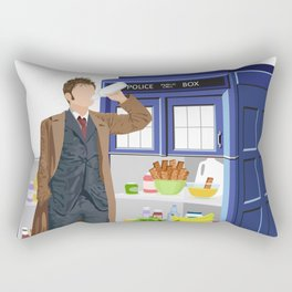 The Doctor Refreshes Rectangular Pillow