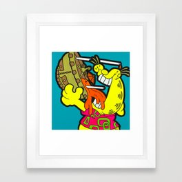 A Reason To Get Out Of Bed - garfield pop art painting Framed Art Print