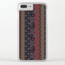 Henna pattern print - Adel Clear iPhone Case