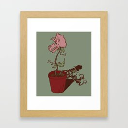 Nepenthes Ceratopsidae Framed Art Print