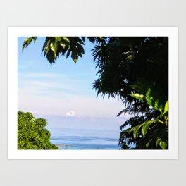 View of Caribbean Sea in Ocho Rios Jamaica Art Print