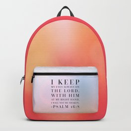 Psalm 16:8 Bible Quote Backpack