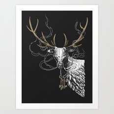 Oh Deer! Light version Art Print