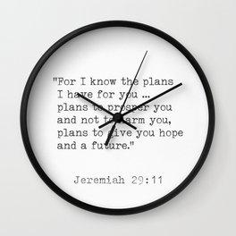 Jeremiah 29:11 Bible Wall Clock