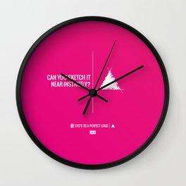 Perfect Logo Series (3 of 11) Wall Clock