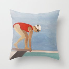 Swimmer Throw Pillow