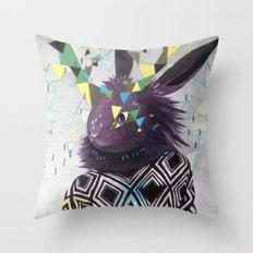 Dark Rabbit Throw Pillow