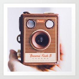 Kodak Brownie Flash B Camera Art Print
