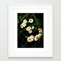 daisies Framed Art Prints featuring Daisies by a collection. James Peart