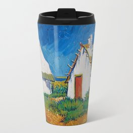 Van Gogh - Three white cottages in Saintes-Maries Travel Mug