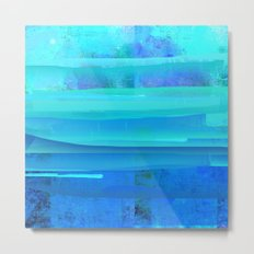 Water Blue Abstract Metal Print