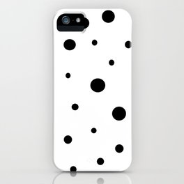 White and Black Polka Dots iPhone Case