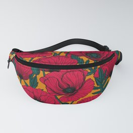 Red poppy garden Fanny Pack