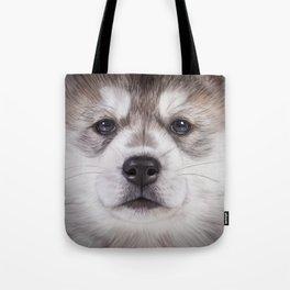 Drawing puppy Alaskan Malamute Tote Bag