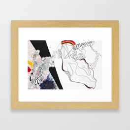 Osmosis: A Graphic Score Framed Art Print