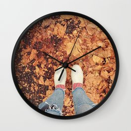 Autumn vibe Wall Clock