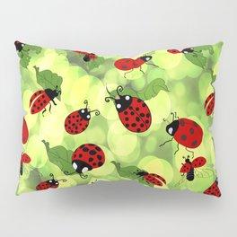 Ladybug Bubbles Pillow Sham
