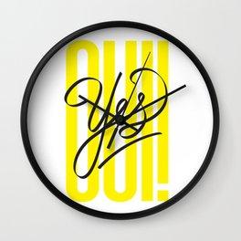 OUI! / YES! Wall Clock