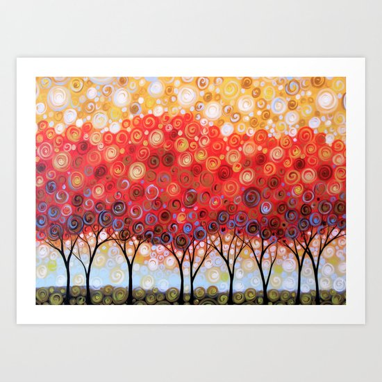 Field of Red Art Print