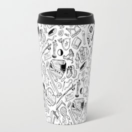 Seinfeld Pattern (White Background) Travel Mug