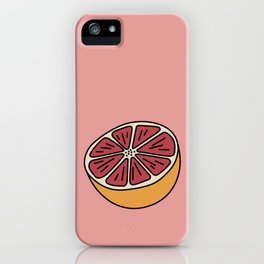Blood Orange Citrus Summer days iPhone Case