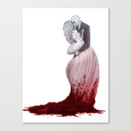 Love suicide Canvas Print