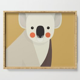Koala, Animal Portrait Serving Tray