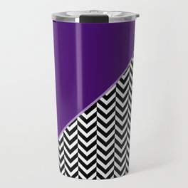 Chevron and Purple Print Travel Mug