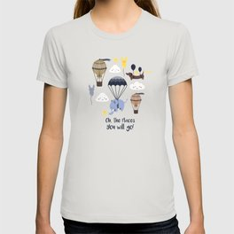 Hot-air balloon nursery seamless pattern T-shirt