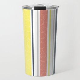 Circles and stripes pattern Travel Mug