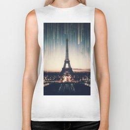 Eiffel Tower Lights Biker Tank