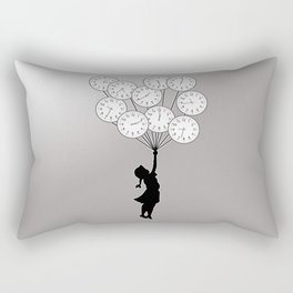 The Girl Flying With Time Rectangular Pillow