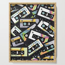 Mixtapes for My Love 80s Old School Cassette Tape Pop Art Serving Tray