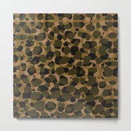 Camo Leopard Spots Metal Print