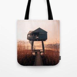 Kiekkaaste cabin during sunset Groningen Netherlands Holland Tote Bag