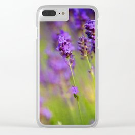 Textured background of lavender flowers Clear iPhone Case