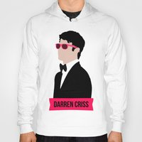 darren criss Hoodies featuring Darren Criss with pink shades! by byebyesally