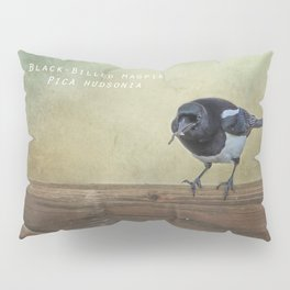 Magpie with a Worm Pillow Sham