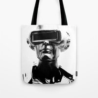 spaceman Tote Bags featuring Spaceman by Goga